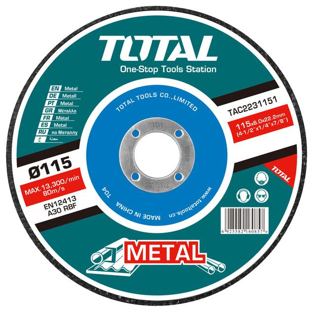 TOTAL METAL GRINDING DISC Φ - 115 X 6mm (TAC2231151)