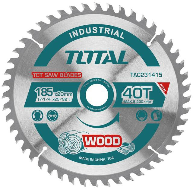 TOTAL TCT SAW BLADE 185mm (TAC231415)