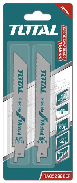 TOTAL RECIPROCATING SAW BLADE FOR METAL 150mm (TAC52922EF)