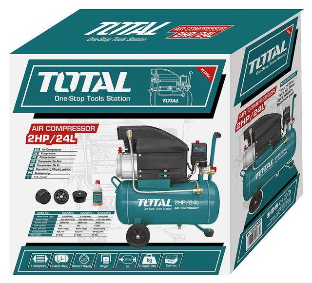 Total Tc120242 Air Compressor 1.5Kw-Green & Black