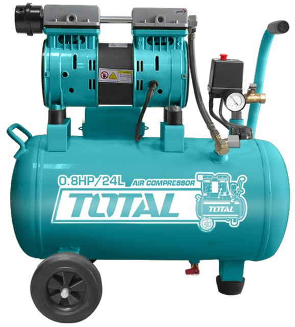 TOTAL AIR COMPRESSOR SILENT AND OIL FREE 24 Lit (TCS1075242)