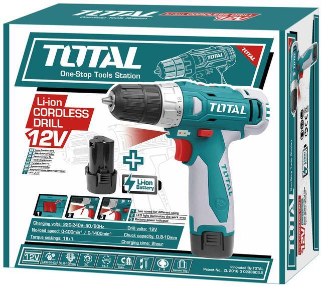 Buy Total Tdli228120 Cordless Drill 12v Blue Amp Grey At Best Price In Pakistan