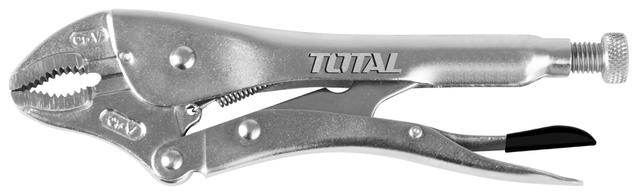 Total Tht191001 Curved Jaw Grip Plier 10''-Silver