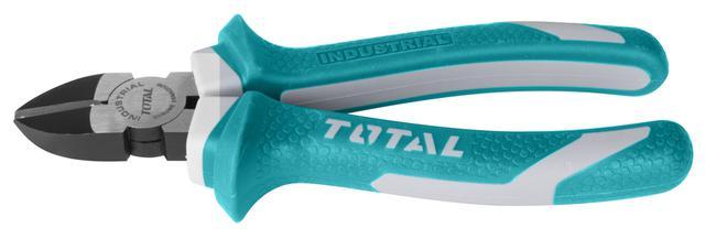Total Tht230606 Diagonal Cutting Plier 6'' Black Finish And Polish-Green