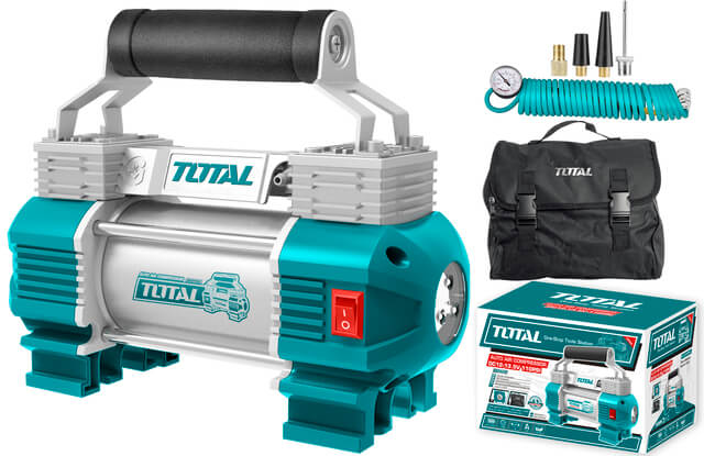 TOTAL AUTO AIR COMPRESSOR WITH LIGHT 12V (TTAC2506)