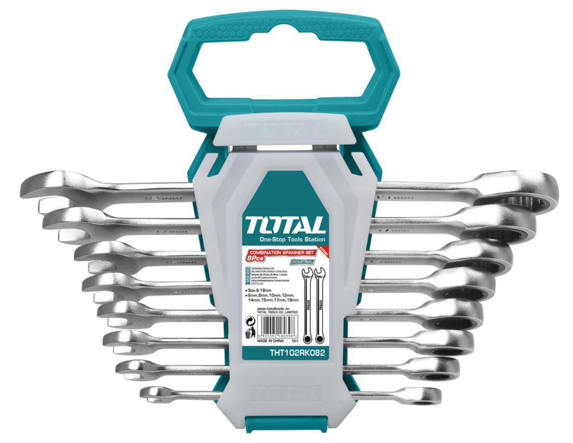 TOTAL RATCHET SPANNER SET 8 PCS (THT102RK086)