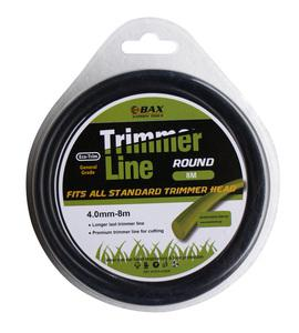 BAX TRIMMER LINE ROUND  4mm - 8m (1304-40008)