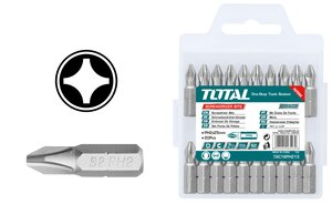 TOTAL SCREWDRIVER BIT MAGNETIC PH2 25mm 20PCS (TAC16PH213)