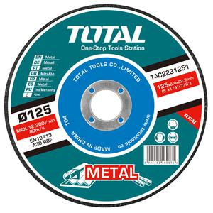 TOTAL METAL GRINDING DISC Φ - 125 X 6mm (TAC2231251)