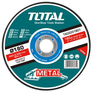 TOTAL METAL GRINDING DISC Φ - 180 X 6mm (TAC2231801)