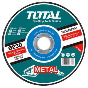 TOTAL METAL GRINDING DISC Φ - 230 X 6mm (TAC2232301)