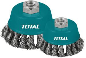 TOTAL WIRE CUP TWIST BRUSH 100mm (TAC32041)