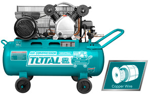 TOTAL AIR COMPRESSOR 100Lit WITH 2 HEADS (TC2301006)