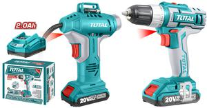 TOTAL COMBO KIT CORDLESS Li-ion BATTERY 20V (TCKLI2002)