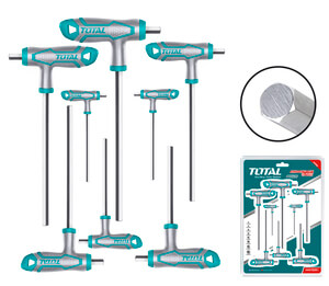 TOTAL T-HANDLE HEX WRENCH SET 8PCS (THHW8081)