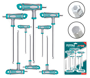 TOTAL T-HANDLE BALL POINT HEX WRENCH SET 8PCS (THHW8082)