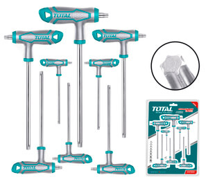 TOTAL T-HANDLE TORX WRENCH SET 8PCS (THHW8083)