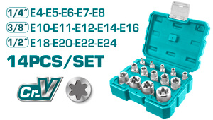 TOTAL STAR SOCKET SE 14PCS (THKTETS0114)
