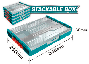 TOTAL STACKABLE PLASTIC BOX (THKTV02)