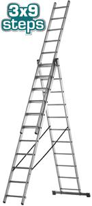 TOTAL 3 SECTION EXTENTION LADDER 3X9 STEPS (THLAD03391)