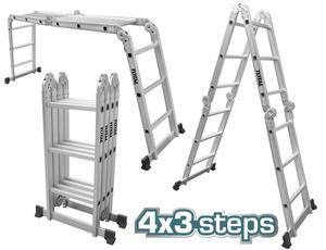 TOTAL MULTI - PURPOSE ALUMINIUM LADDER 4X3 STEPS (THLAD04431)