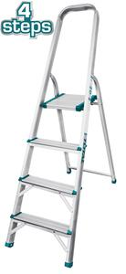 TOTAL ALUMINIUM LADDER 4 STEPS (THLAD06041)