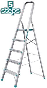 TOTAL ALUMINIUM LADDER 5 STEPS (THLAD06051)