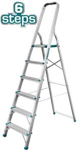 TOTAL ALUMINIUM LADDER 6 STEPS (THLAD06061)