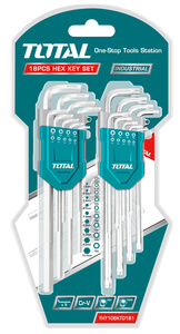 TOTAL SET HEX KEY + TORX KEY 18 PCS (THT106KT0181)