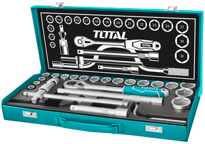 "TOTAL 24PCS 1/2"" SOCKET SET (THT141253)"