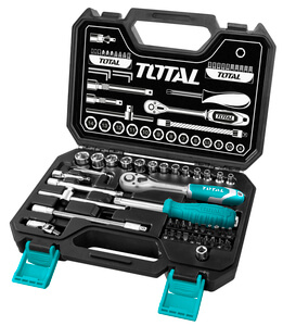 "TOTAL 45PCS 1/4"" SOCKET SET (THT141451)"