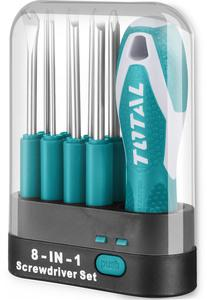 TOTAL INTERCHANGEABLE SCREWDRIVER SET 9 PCS (THT250906)