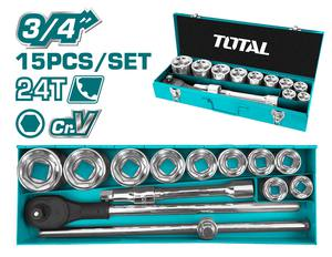 "TOTAL 15PCS 3/4"" SOCKET SET (THT341151)"
