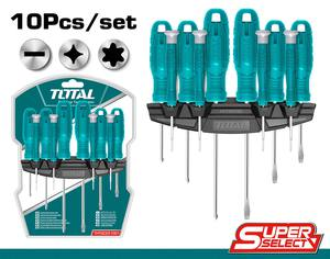 TOTAL 10PCS SCREWDRIVER AND PRECISION SET (THTDC251001)