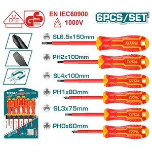 TOTAL SCREWDRIVER SET 1000V 6PCS (THTIS566)