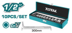 "TOTAL SOCKET SET 1/2"" 10PCS (THTL121101)"