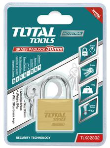 TOTAL BRASS PADLOCK 30mm (TLK32302)