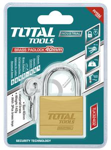 TOTAL BRASS PADLOCK 40mm (TLK32402)