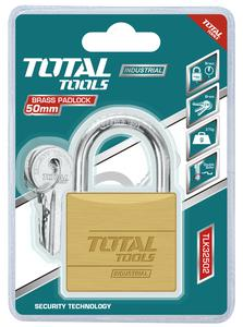TOTAL BRASS PADLOCK 50mm (TLK32502)