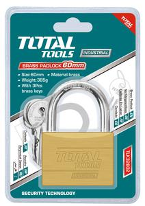 TOTAL BRASS PADLOCK 60mm (TLK32602)