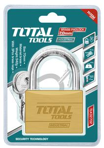 TOTAL BRASS PADLOCK 70mm (TLK32702)