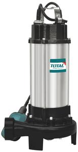 TOTAL INOX SEWAGE WATER SUBMERSIBLE PUMP WITH CUTTING BLADE 1.500W (TWP715001)